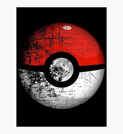 Destroyed Pokemon Go Team Red Pokeball Photographic Print