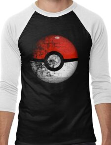 Destroyed Pokemon Go Team Red Pokeball Men's Baseball ¾ T-Shirt