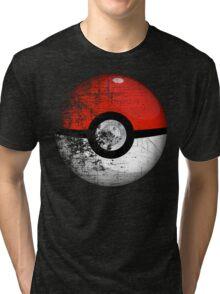 Destroyed Pokemon Go Team Red Pokeball Tri-blend T-Shirt