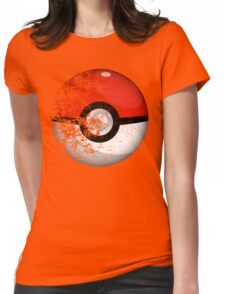 Destroyed Pokemon Go Team Red Pokeball Womens Fitted T-Shirt