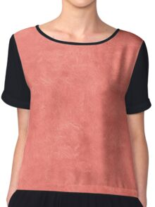 Coral Reef Oil Pastel Color Accent Chiffon Top