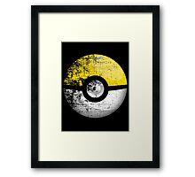 Destroyed Pokemon Go Team Yellow Pokeball Framed Print