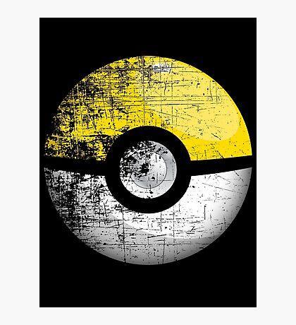 Destroyed Pokemon Go Team Yellow Pokeball Photographic Print
