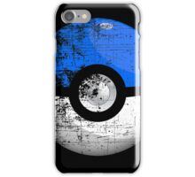 Destroyed Pokemon Go Team Blue Pokeball iPhone Case/Skin