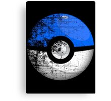 Destroyed Pokemon Go Team Blue Pokeball Canvas Print