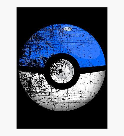 Destroyed Pokemon Go Team Blue Pokeball Photographic Print