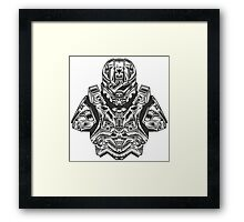 Master Chief Bust Framed Print