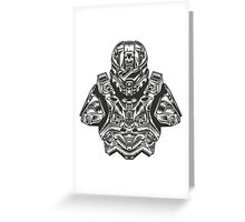 Master Chief Bust Greeting Card