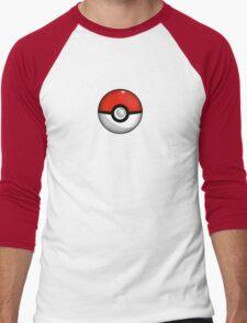 Pokemon Go Team Red Pokeball Men's Baseball ¾ T-Shirt