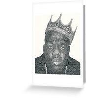 Biggie - Small words Greeting Card