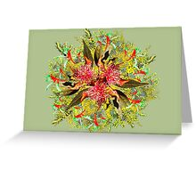 Australian Wildflower Bouquet Greeting Card