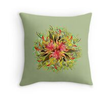 Australian Wildflower Bouquet Throw Pillow