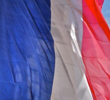 French flag under the Arc de Triumph Sticker