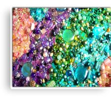 coloured beads Canvas Print
