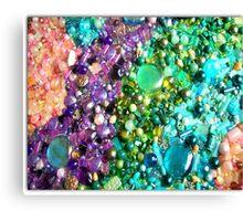 coloured beads Canvas Print