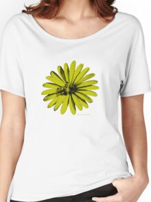 Daisy Bee Yellow Women's Relaxed Fit T-Shirt