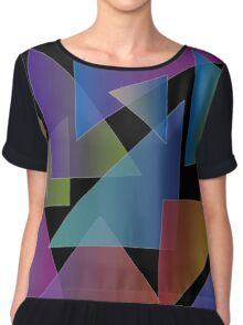 dark triangles Chiffon Top
