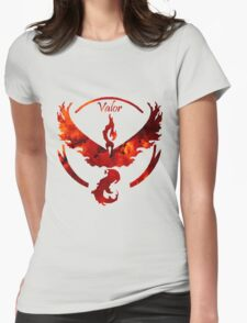 Team Valor Pokemon Go Gear Womens Fitted T-Shirt