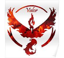 Team Valor Pokemon Go Gear Poster