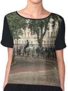 The Lone Officer and His Horse Chiffon Top
