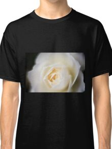selective focus close up of a white rose flower Classic T-Shirt