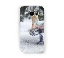 Playground in a Park During Heavy Snowfall In Winter In Bucharest, Romania Samsung Galaxy Case/Skin