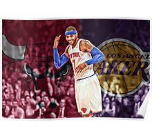 Carmelo Anthony Designs Poster
