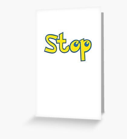 Pokemon Stop Greeting Card