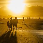 Byron Bay Sunset Family by Clare Colins