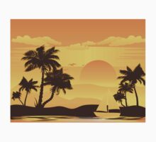 Palm Tree at Sunset 2 One Piece - Long Sleeve