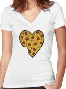 A Pizza My Heart Women's Fitted V-Neck T-Shirt