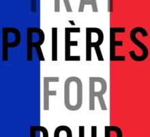 Pray for Paris Sticker Sticker