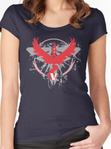 Pokemon Team Valor Shirts Women's Fitted Scoop T-Shirt