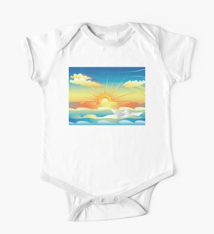 Paper Boat in the Sea 2 One Piece - Short Sleeve