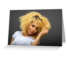 Blond in Love Greeting Card