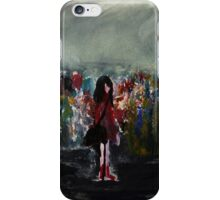 The Lost Hat Red Raincoat acrylic painting iPhone Case/Skin
