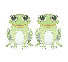 Chummy Twin Frogs by Jean Gregory  Evans