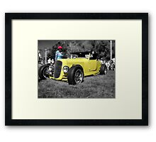 Red Hat & A Yellow Hotrod Framed Print