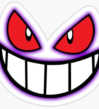 Gengar Monster Purple Pokeball Sticker