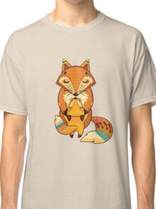 Mom and Baby Fox together Classic T-Shirt