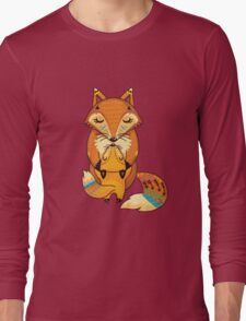 Mom and Baby Fox together Long Sleeve T-Shirt