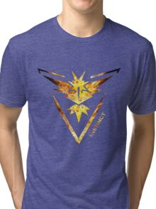 Team Instinct Pokemon Go Gear Tri-blend T-Shirt