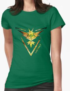 Team Instinct Pokemon Go Gear Womens Fitted T-Shirt