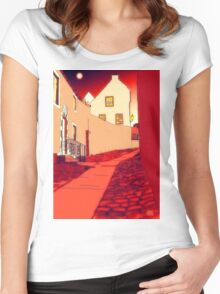 Dysart: Scottish Town digital drawing Women's Fitted Scoop T-Shirt