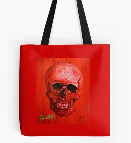 Smile Skull Tote Bag