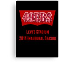 San Francisco 49ers Levi's Stadium with Text Canvas Print