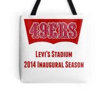 San Francisco 49ers Levi's Stadium with Text Tote Bag