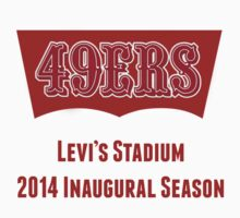 San Francisco 49ers Levi's Stadium with Text by Josh Eisenmann