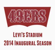 San Francisco 49ers Levi's Stadium with Text T-Shirt