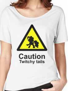 Caution Twitchy tails Women's Relaxed Fit T-Shirt